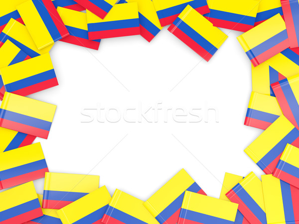Frame with flag of colombia Stock photo © MikhailMishchenko