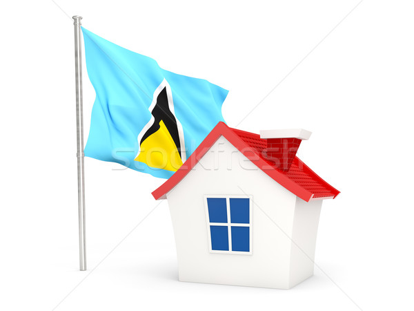 House with flag of saint lucia Stock photo © MikhailMishchenko