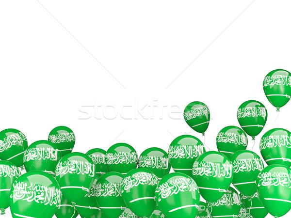 Flying balloons with flag of saudi arabia Stock photo © MikhailMishchenko