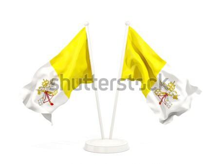 Banderą Watykan odizolowany biały Zdjęcia stock © MikhailMishchenko