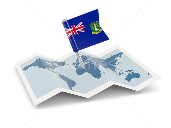 карта флаг британский Виргинские о-ва изолированный белый Сток-фото © MikhailMishchenko