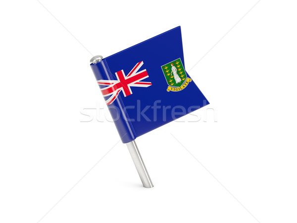 Flagge Pin Virgin Islands britisch isoliert Stock foto © MikhailMishchenko
