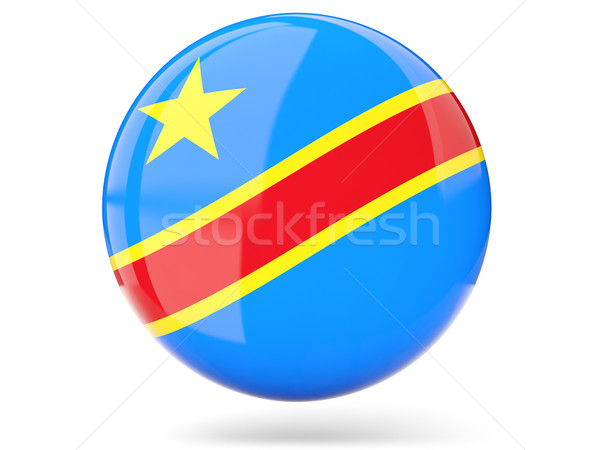 Ikona banderą demokratyczny republika Congo Zdjęcia stock © MikhailMishchenko