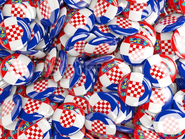 Pavillon Croatie monde fond Voyage pays Photo stock © MikhailMishchenko