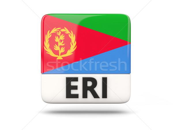квадратный икона флаг Эритрея iso Код Сток-фото © MikhailMishchenko