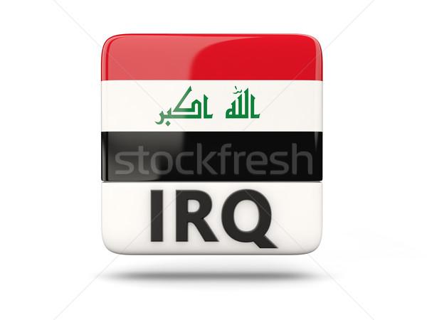 Stock fotó: Tér · ikon · zászló · Irak · iso · kód