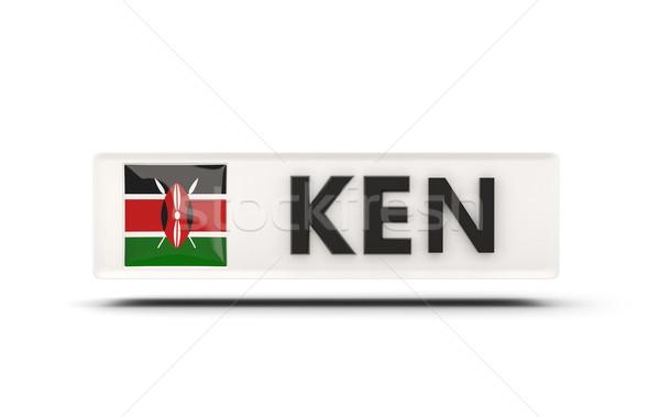 Tér ikon zászló Kenya iso kód Stock fotó © MikhailMishchenko