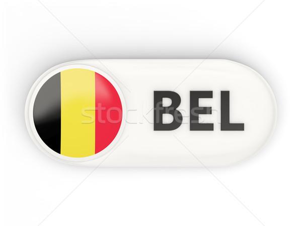 Ikon bayrak Belçika iso kod ülke Stok fotoğraf © MikhailMishchenko