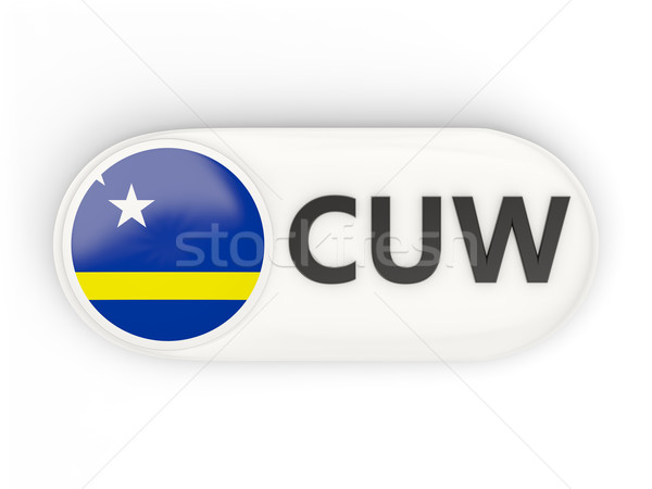 Round icon with flag of curacao Stock photo © MikhailMishchenko