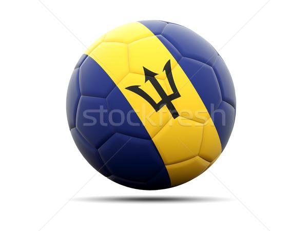 Voetbal vlag Barbados 3d illustration voetbal sport Stockfoto © MikhailMishchenko
