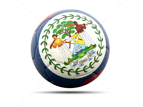 футбола флаг Белиз 3d иллюстрации Футбол спорт Сток-фото © MikhailMishchenko