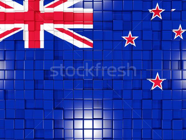 Cuadrados bandera Nueva Zelandia 3D mosaico Foto stock © MikhailMishchenko