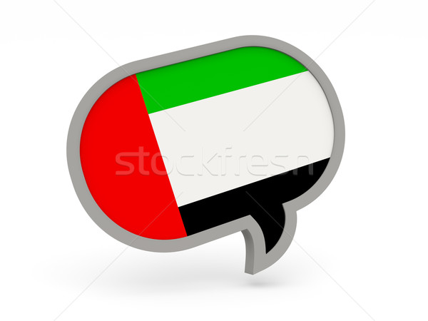 Conversar ícone bandeira Emirados Árabes Unidos isolado branco Foto stock © MikhailMishchenko