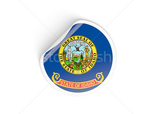 Flag of idaho, US state round sticker Stock photo © MikhailMishchenko