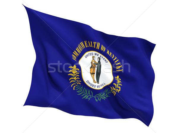 Flag of kentucky, US state fluttering flag Stock photo © MikhailMishchenko