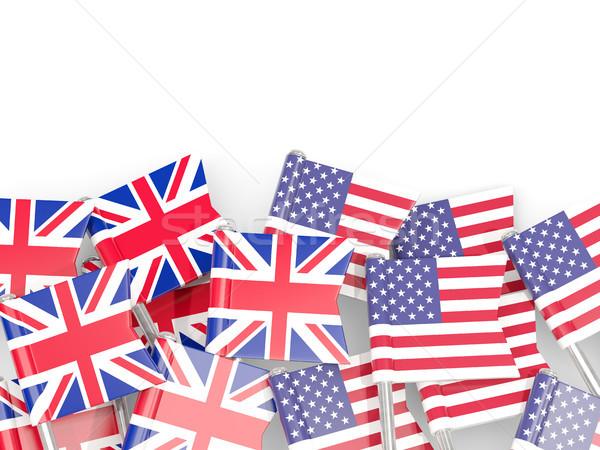 Bandera reino EE.UU. aislado blanco 3d Foto stock © MikhailMishchenko