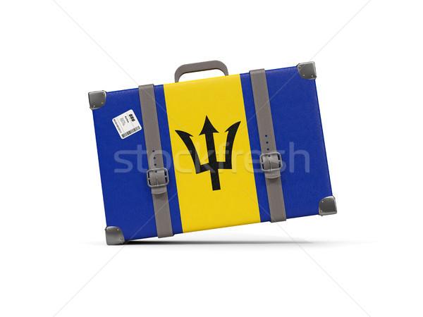 Bagagem bandeira Barbados mala isolado branco Foto stock © MikhailMishchenko