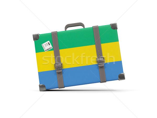 Камера флаг Габон чемодан изолированный белый Сток-фото © MikhailMishchenko