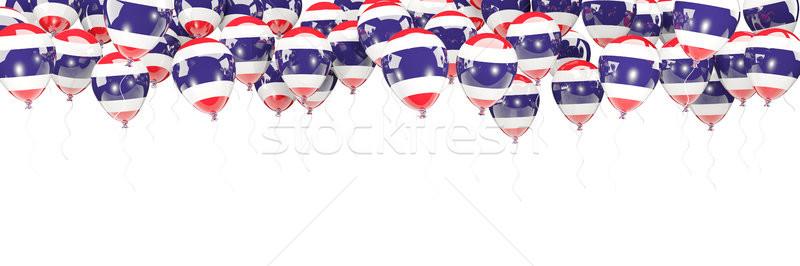 Palloncini frame bandiera Thailandia isolato bianco Foto d'archivio © MikhailMishchenko