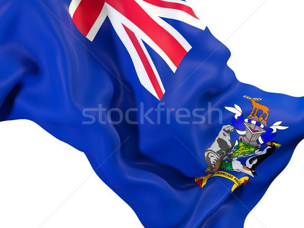 Vlag zuiden Georgië sandwich eilanden Stockfoto © MikhailMishchenko