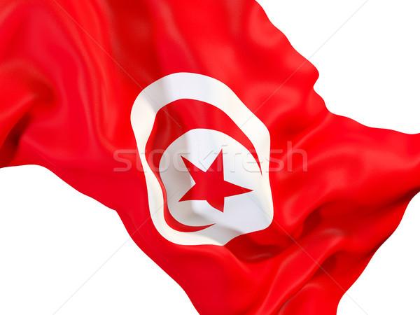 Bayrak Tunus 3d illustration seyahat Stok fotoğraf © MikhailMishchenko