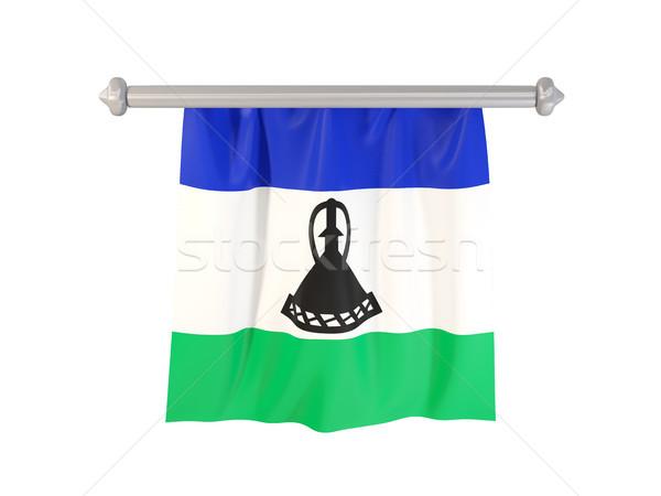 Pavillon Lesotho isolé blanche 3d illustration étiquette Photo stock © MikhailMishchenko