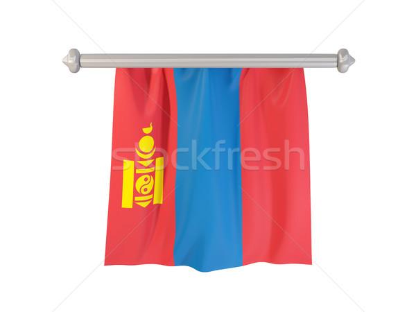 Pennant with flag of mongolia Stock photo © MikhailMishchenko