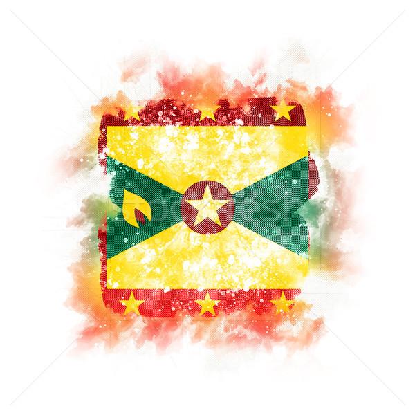 Tér grunge zászló Grenada 3d illusztráció retro Stock fotó © MikhailMishchenko