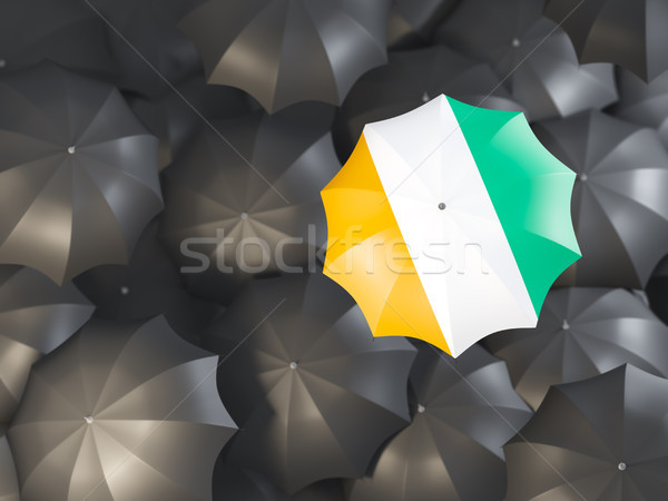 Umbrella with flag of cote d'Ivoire Stock photo © MikhailMishchenko