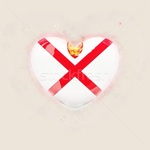 Heart with flag of jersey Stock photo © MikhailMishchenko