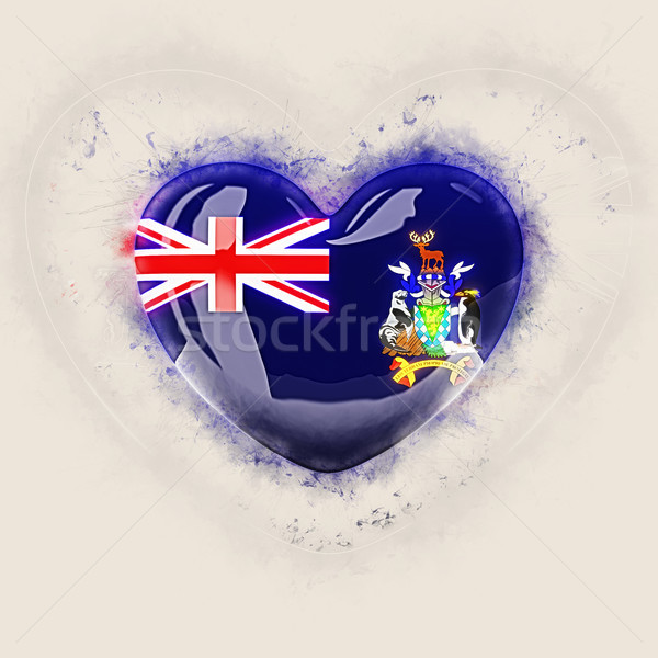 Heart with flag of south georgia and the south sandwich islands Stock photo © MikhailMishchenko