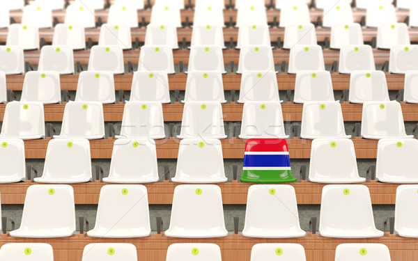 Stadium seat with flag of gambia Stock photo © MikhailMishchenko