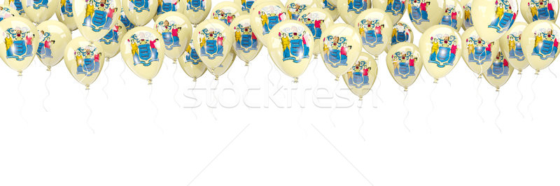 Ballonnen frame vlag New Jersey Verenigde Staten lokaal Stockfoto © MikhailMishchenko