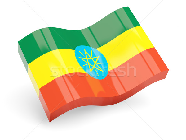 Stock photo: 3d flag of ethiopia