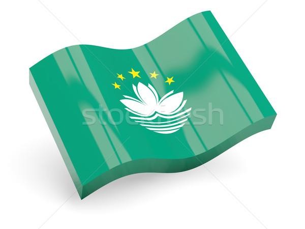 3d flag of macao Stock photo © MikhailMishchenko