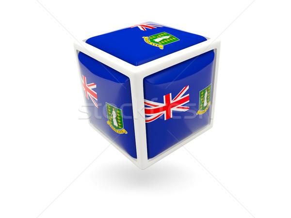 флаг Виргинские о-ва британский куб икона изолированный Сток-фото © MikhailMishchenko