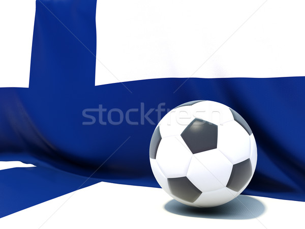 Flag of finland with football in front of it Stock photo © MikhailMishchenko