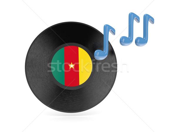 виниловых диск флаг Камерун изолированный белый Сток-фото © MikhailMishchenko