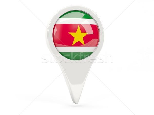 флаг икона Суринам изолированный белый карта Сток-фото © MikhailMishchenko