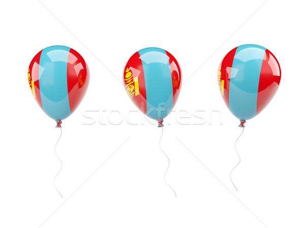 Air balloons with flag of mongolia Stock photo © MikhailMishchenko