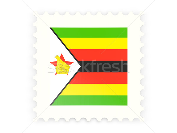 Postage stamp icon of zimbabwe Stock photo © MikhailMishchenko