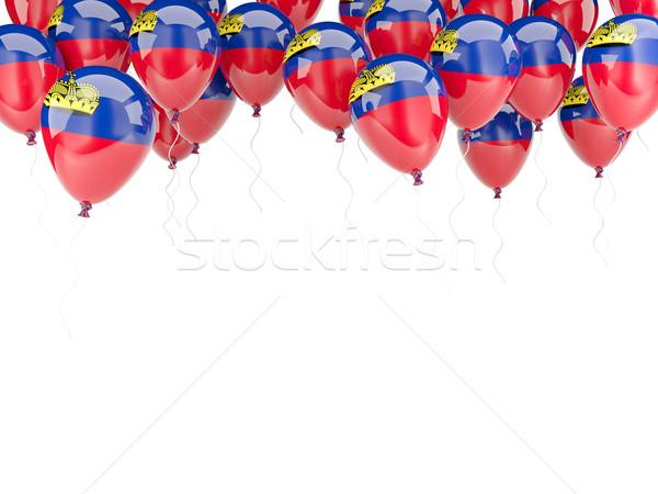 Pallone frame bandiera Liechtenstein isolato bianco Foto d'archivio © MikhailMishchenko