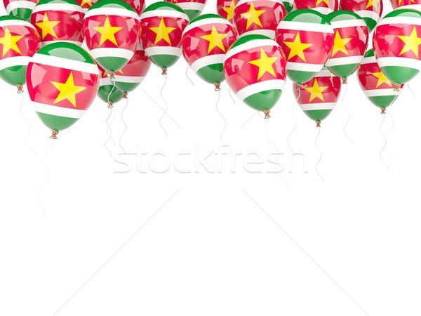 шаре кадр флаг Суринам изолированный белый Сток-фото © MikhailMishchenko