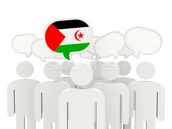 Personas bandera occidental sáhara aislado blanco Foto stock © MikhailMishchenko