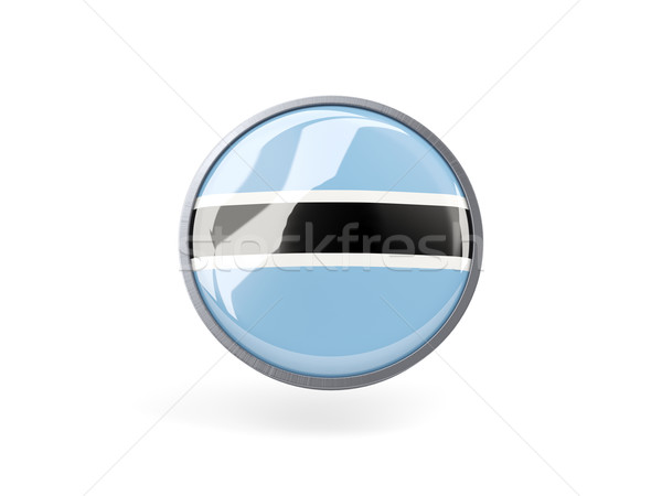 Ikona banderą Botswana metal ramki podróży Zdjęcia stock © MikhailMishchenko