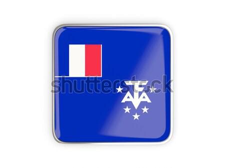 квадратный икона флаг французский южный металл Сток-фото © MikhailMishchenko