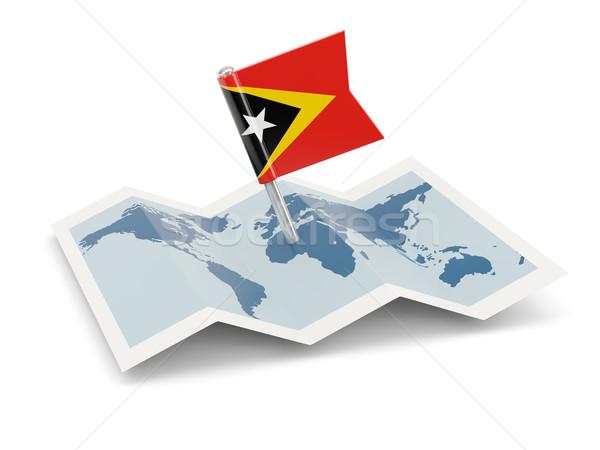 Map with flag of east timor Stock photo © MikhailMishchenko
