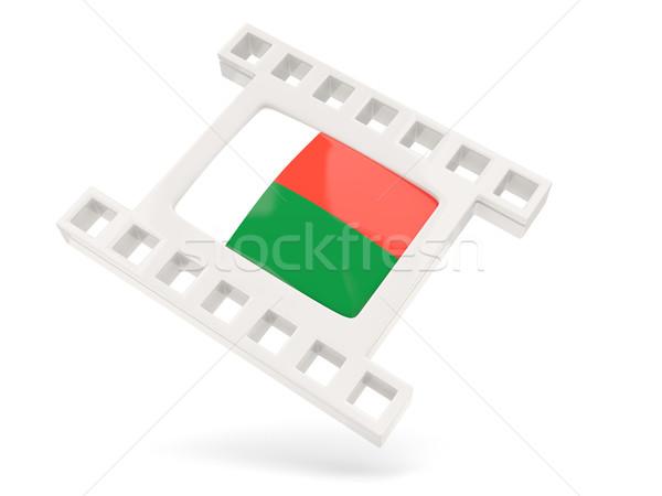 Film ikon zászló Madagaszkár izolált fehér Stock fotó © MikhailMishchenko