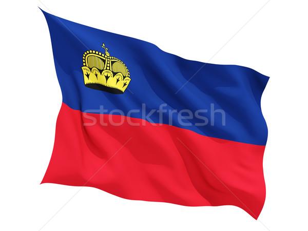 Waving flag of liechtenstein Stock photo © MikhailMishchenko