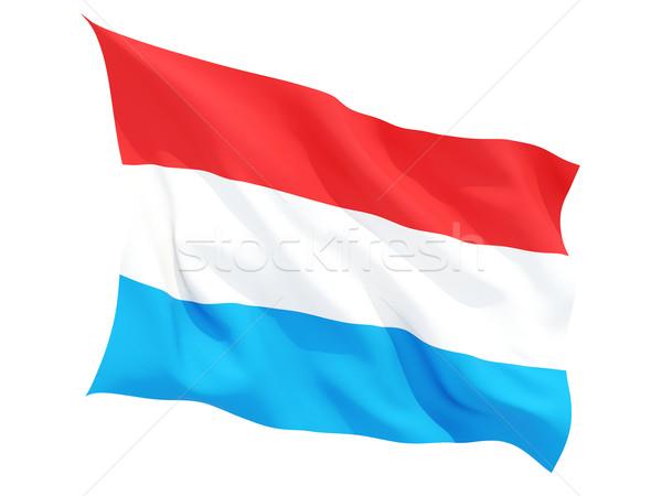 Banderą Luksemburg odizolowany biały Zdjęcia stock © MikhailMishchenko